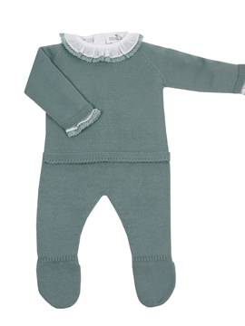Baby aquarelle green knit look