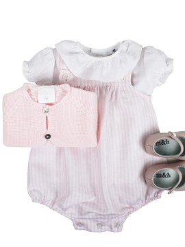 Baby romper look in pink