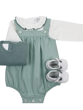 Baby aquarelle green romper look
