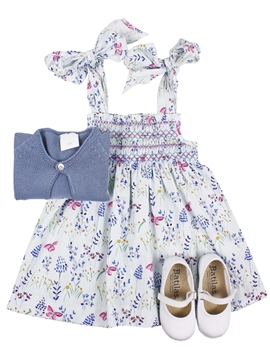 Loops  dress look with pink butterfly