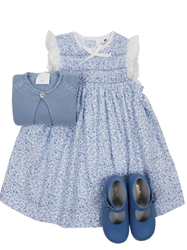 Paloma dress look in blue