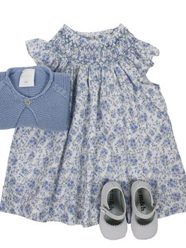 Salito dress look in blue