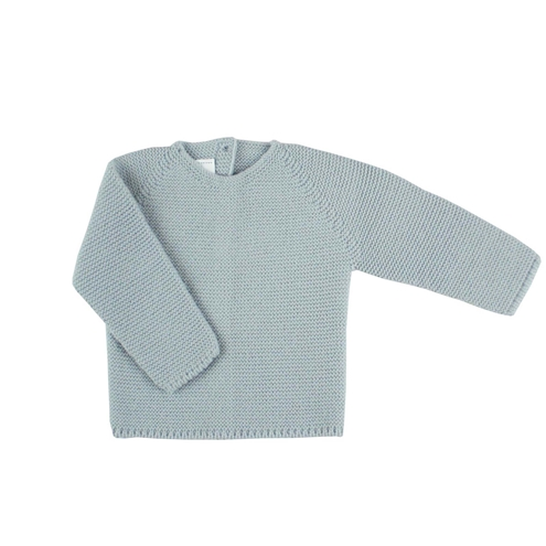 Grey thick knit baby sweater