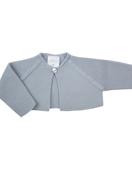 Grey thick knit baby cardigan