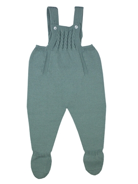 Aquarelle green knit baby dungaree m&h