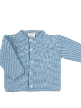 Blue knitted baby long cardigan m&h