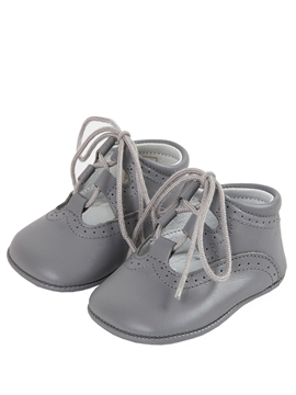 Wales baby grey leather blucher