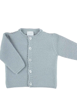 baby knitted cardigan in grey with buttons m&h