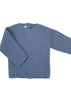 Medium blue baby sweater m&h