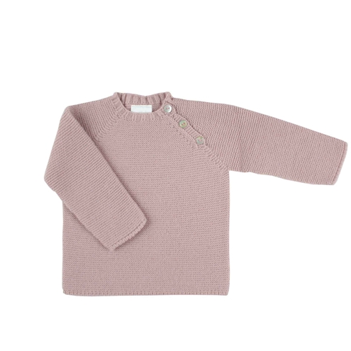 Buttons sweater in pastel pink