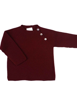 Thick knit burgundy sweater