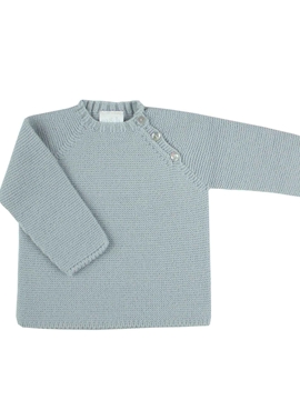 Sweater buttons grey knit