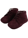 Baby suede boots shoes burgundy