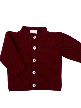Thick knit burgundy cardigan