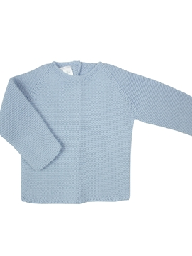 Blue thick knit baby sweater