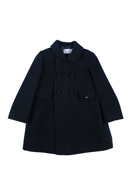 Navy blue girl coat with buttons