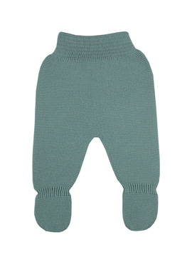 Aquarelle green thick knit baby leggings.