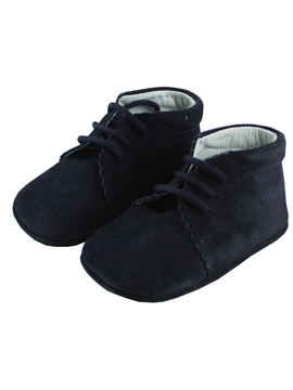 lace up boots suede shoes Navy blue