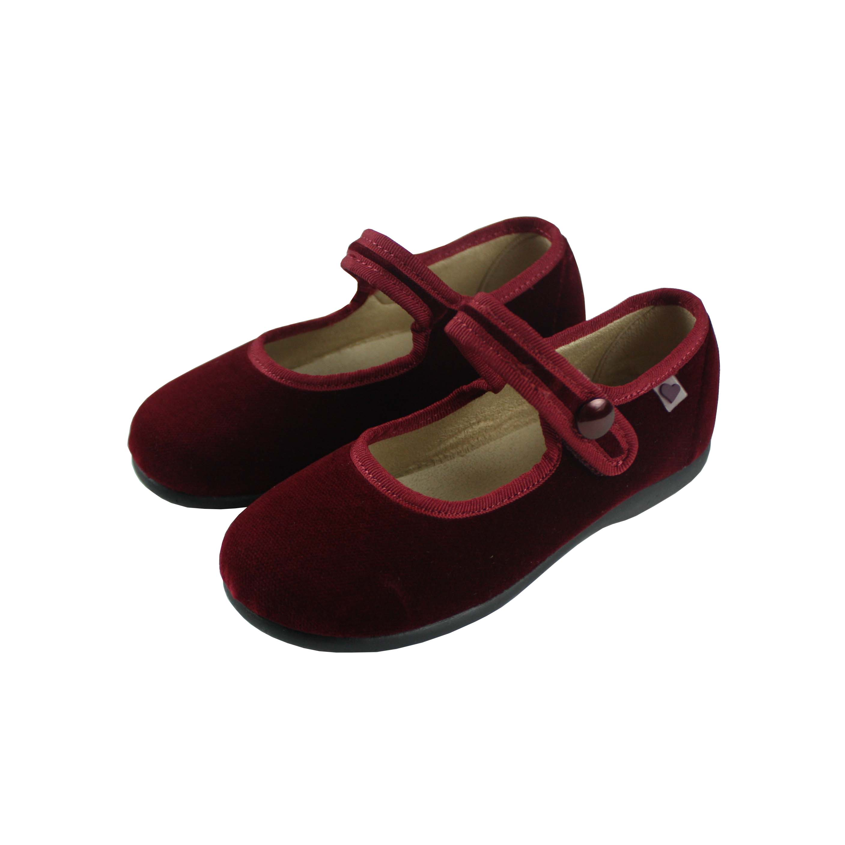 Mercedes velvet shoes burgundy by myhbaby