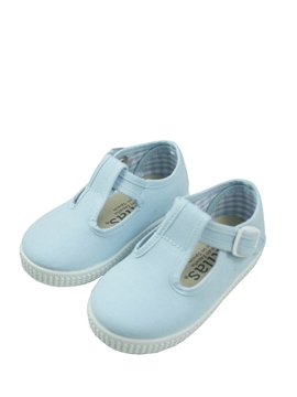 blue t bar canvas shoes