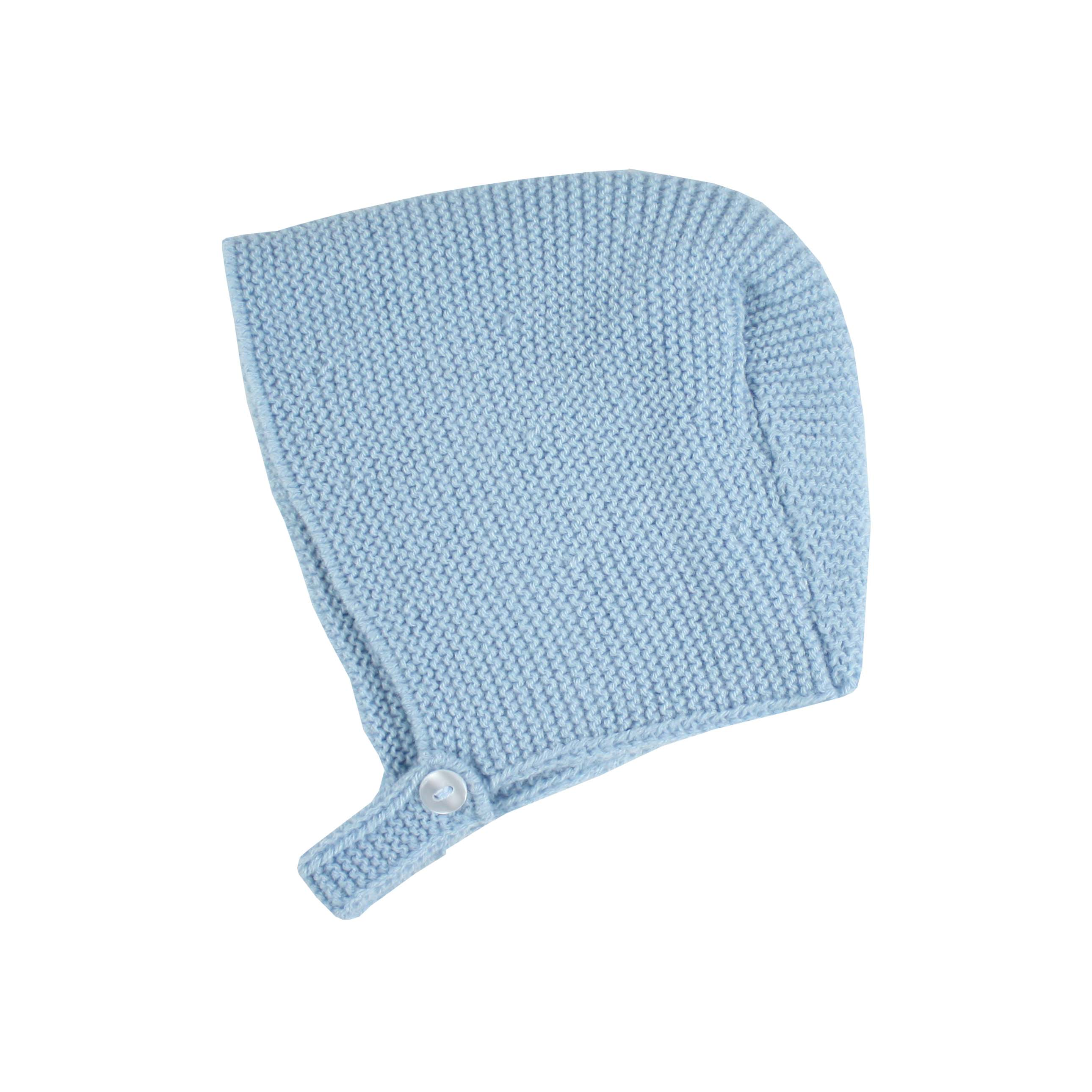 Blue baby knitted bonnet 40c851dfb28