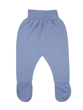Medium blue knit leggings baby.