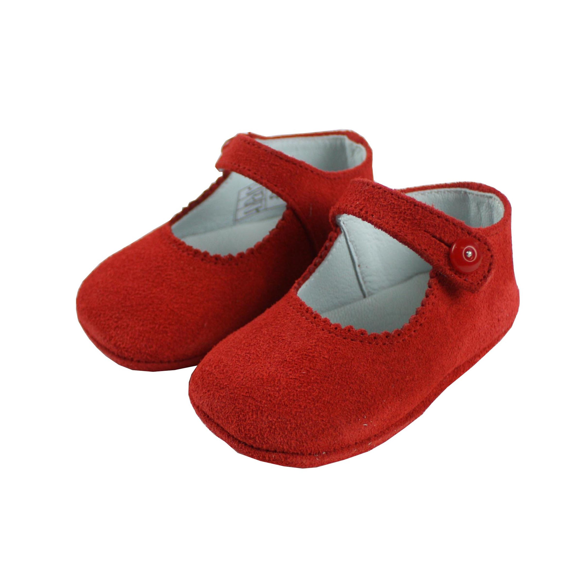 75388f55dfdb6 Baby red suede shoes girls