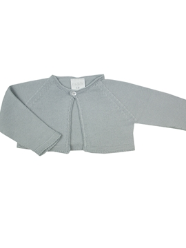 Knitted short baby grey cardigan m&h