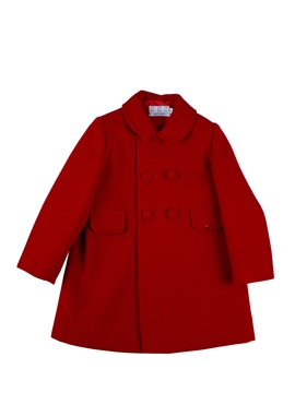 Red buttons coat