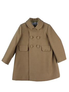 Camel buttons coat