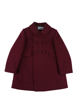 Girl coat burgundy
