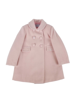 Pastel pink coat with buttons