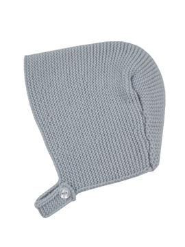 Grey baby knitted bonnet m&h