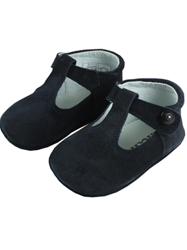 t bar pram suede shoes in navy blue