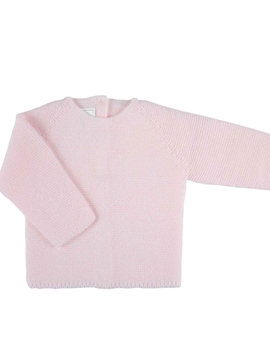 Pink thik knitted baby sweater m&h