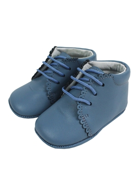 Medium blue boots soft leather baby shoes