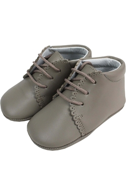 Taupe boots soft leather baby shoes