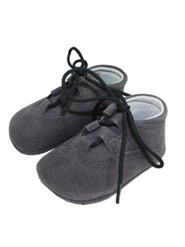 Wales grey suede baby boots