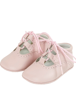 baby shoes leather pink