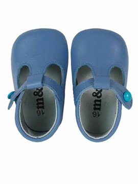 blue soft leather baby shoes pepitos