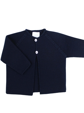 Navy blue baby knit long cardigan m&h