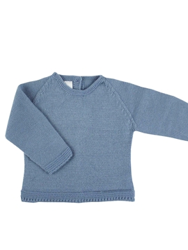 medium blue knit baby sweater