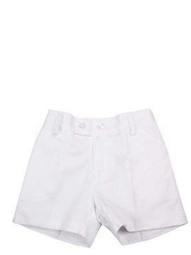 Toddler boy white bermuda