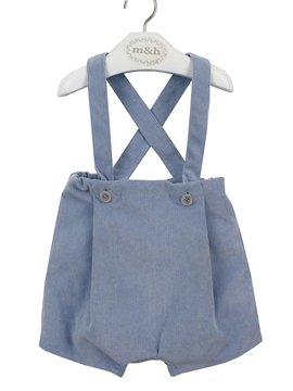 Bosco corduroy short with braces in blue