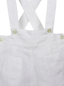 short braces linen white