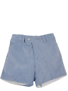 Toddler boy bermuda shorts blue corduroy