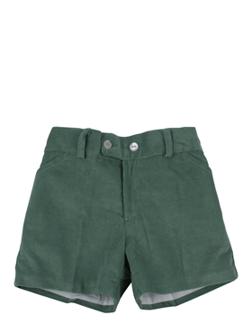 Toddler boy bermuda shorts green corduroy