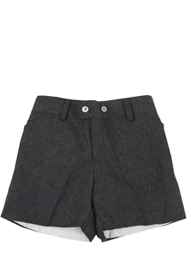 Toddler boy bermuda shorts in gray flannel