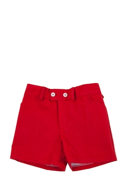Red toddler boy short