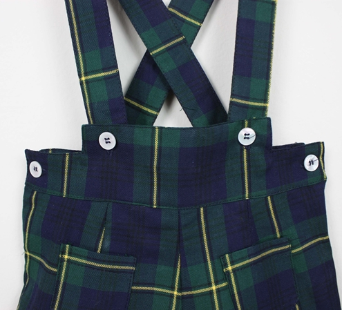 short braces navy green